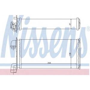 Теплообменник, отопление салона 70501 nissens - BMW 3 (E30) седан 316 (Ecotronic)