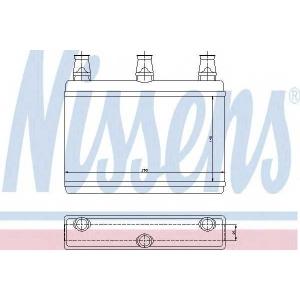 70522 nissens Теплообменник, отопление салона BMW 5 седан 520 i