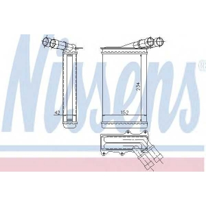 NISSENS 71156 Радиатор печки CITROEN; PEUGEOT (пр-во Nissens)