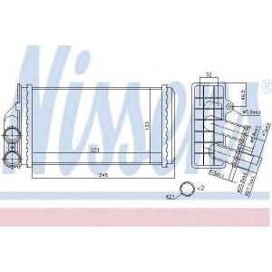 Теплообменник, отопление салона 71157 nissens - CITRO?N C4 (B7) Наклонная задняя часть 1.6 VTi 120