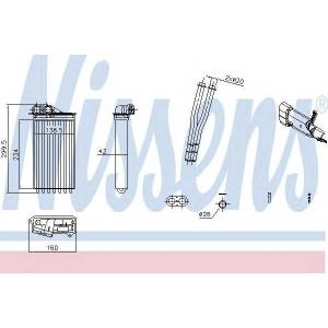 71161 nissens Теплообменник, отопление салона CITROËN C1 Наклонная задняя часть 1.0