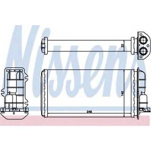 NISSENS 71446 Теплообменник, отопление салона