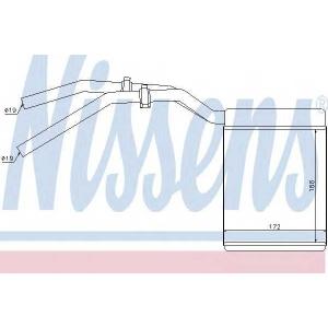 Теплообменник, отопление салона 71770 nissens - VOLVO C30 Наклонная задняя часть 1.6 D2