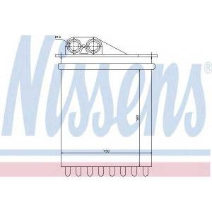Теплообменник, отопление салона 72040 nissens - MERCEDES-BENZ SPRINTER 3,5-t автобус (906) автобус 318 CDI (906.731, 906.733, 906.735)