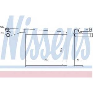 Теплообменник, отопление салона 72043 nissens - MERCEDES-BENZ SPRINTER 2-t автобус (901, 902) автобус 208 D