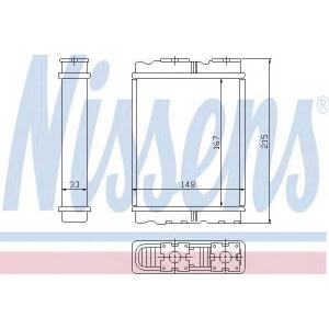 Теплообменник, отопление салона 72050 nissens - MITSUBISHI COLT IV (CA_A) Наклонная задняя часть 1.3 GLi 12V (CA1A)