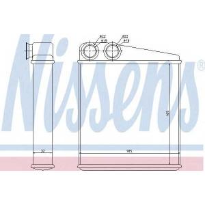 NISSENS 72206 Теплообменник, отопление салона