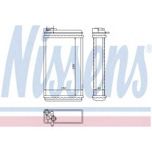 Теплообменник, отопление салона 726461 nissens - OPEL OMEGA A (16_, 17_, 19_) седан 1.8 N