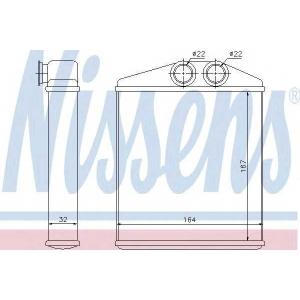 Теплообменник, отопление салона 72661 nissens - VAUXHALL COMBO Mk II (C) фургон/универсал (F25) фургон/универсал 1.6 CNG 16V