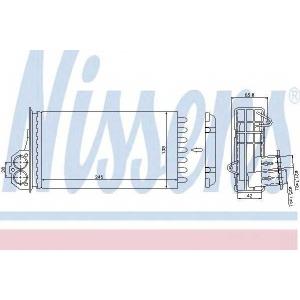 Теплообменник, отопление салона 72941 nissens - PEUGEOT 206+ (T3E) Наклонная задняя часть 1.4 i