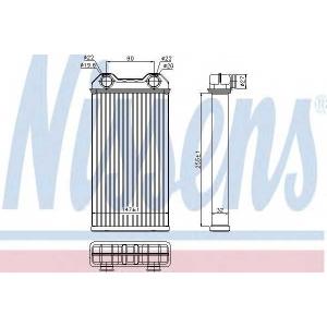 73331 nissens Теплообменник, отопление салона RENAULT TRAFIC автобус 2.5 dCi 115