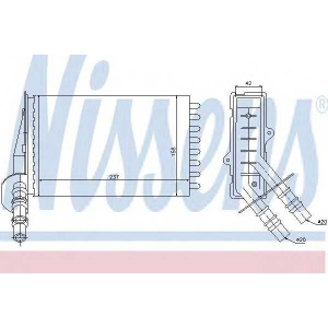 Теплообменник, отопление салона 73374 nissens - RENAULT CLIO II (BB0/1/2_, CB0/1/2_) Наклонная задняя часть 1.2 (BB0A, BB0F, BB10, BB1K, BB28, BB2D, BB2H, CB0A...)