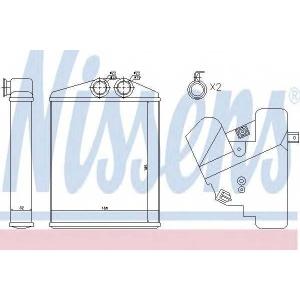 Теплообменник, отопление салона 73377 nissens - SAAB 9-3 (YS3F) седан 2.0 t BioPower XWD