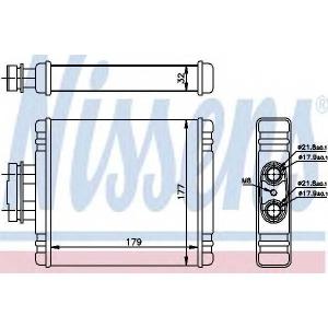Теплообменник, отопление салона 73654 nissens - SEAT IBIZA V (6J5) Наклонная задняя часть 1.2