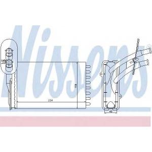 NISSENS 73961 Heater radiator