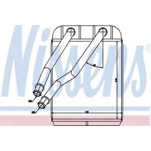 Теплообменник, отопление салона 73975 nissens - VW AMAROK пикап 2.0 TSI