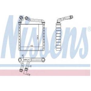 Теплообменник, отопление салона 73979 nissens - SEAT LEON (1P1) Наклонная задняя часть 1.6 TDI