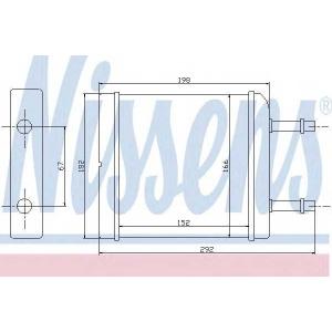 Теплообменник, отопление салона 76506 nissens - DAEWOO MATIZ (KLYA) Наклонная задняя часть 0.8