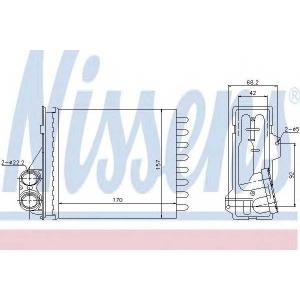 NISSENS 76512 Радіатор пічки