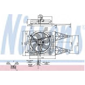 Вентилятор, охлаждение двигателя 85249 nissens - AUDI A3 (8L1) Наклонная задняя часть 1.6