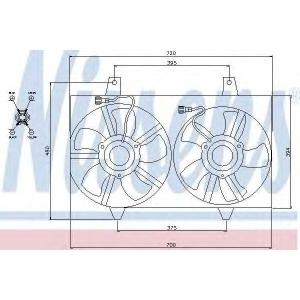 Вентилятор, охлаждение двигателя 85280 nissens - NISSAN MAXIMA QX II (A33) седан 2.0 V6 24V
