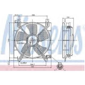 Вентилятор, охлаждение двигателя 85353 nissens - DAEWOO NUBIRA седан (KLAN) седан 1.6