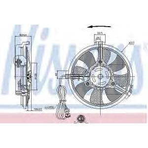 NISSENS 85519 Вентилятор радиатора