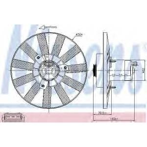 NISSENS 85539 Вентилятор радіатора