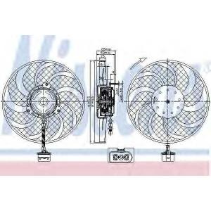 NISSENS 85541 Вентилятор радіатора