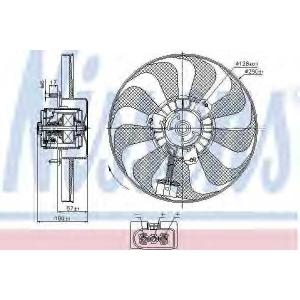 NISSENS 85684 Вентилятор радіатора