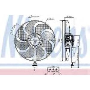 NISSENS 85690 Вентилятор радіатора