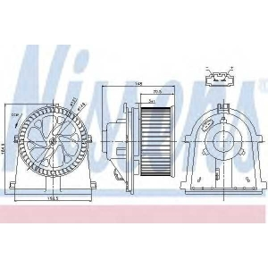NISSENS 87022 Вентилятор салона