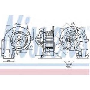 Вентилятор салона OPEL (пр-во Nissens) 87025 nissens -