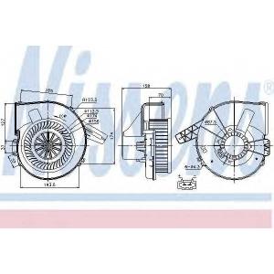 87028 nissens Вентилятор салона SEAT IBIZA Наклонная задняя часть 1.2