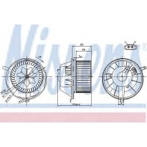 Вентилятор салона 87034 nissens -