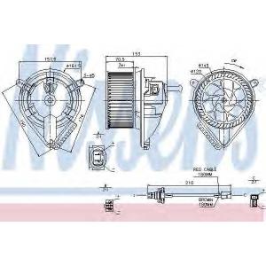 NISSENS 87039 Вентилятор салона