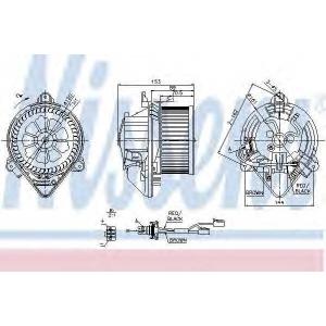 NISSENS 87053 Вентилятор салона