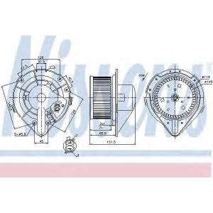 NISSENS 87066 Вентилятор салона AUDI, VW (пр-во Nissens)