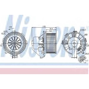 NISSENS 87105 Вентилятор салона