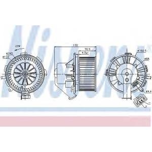 NISSENS 87106 Вентилятор отопителя MERCEDES SPRINTER W 906 (06-) (пр-во Nissens)