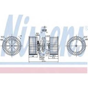 NISSENS 87114 Вентилятор салона BMW 5 (пр-во Nissens)