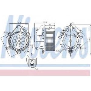 NISSENS 87124 DMUCHAWA WN╩TRZA NISSENS 87124 FIAT PUNTO II 99-