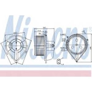 NISSENS 87128 Вентилятор отопителя FIAT  DUCATO (94-)(пр-во Nissens)