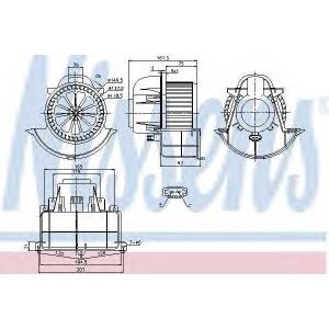 NISSENS 87139 Вентилятор отопителя