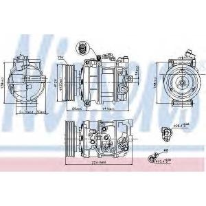 NISSENS 890025 Компресор кондиціонера
