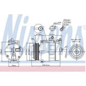 89022 nissens Компрессор, кондиционер MERCEDES-BENZ S-CLASS седан 300 SE  2.8 (140.028)