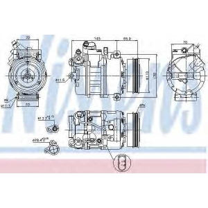 NISSENS 89023 Компресор кондиціонера