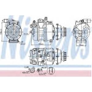 NISSENS 89036 компрессор кондиционера VW-TRANSPORTER T5  03- (Nissens)