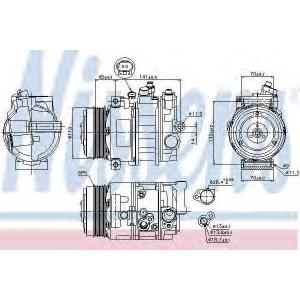 NISSENS 89039 компрессор кондиционера MERCEDES  C, E, SLK-CLASS, SPRINTER W 906 (Nissens)
