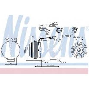 NISSENS 89045 Компресор кондиціонера